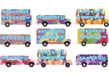 Hippe Bus Vectors - vector gratuit #397339