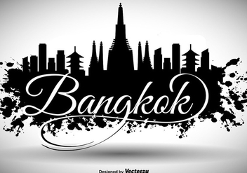 Bangkok Skyline Background - бесплатный vector #397359