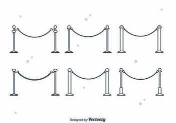 Velvet Ropes Vector - vector gratuit #397399