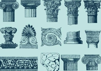 Architecture With Acanthus Decor - vector gratuit #397409