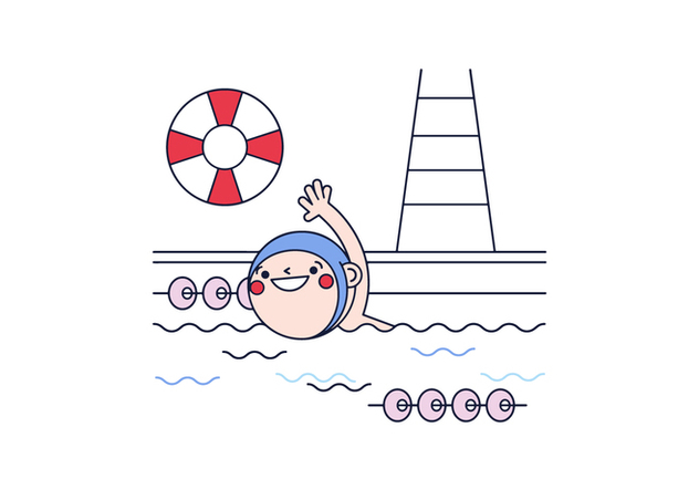 Free Swimming Vector - Free vector #397629