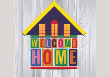 Cute House Welcome Home Vector - Kostenloses vector #398159
