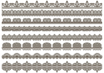 Lace Trim Icons - vector #398259 gratis
