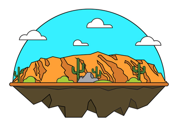 Grand Canyon Vector Illustration - бесплатный vector #398369