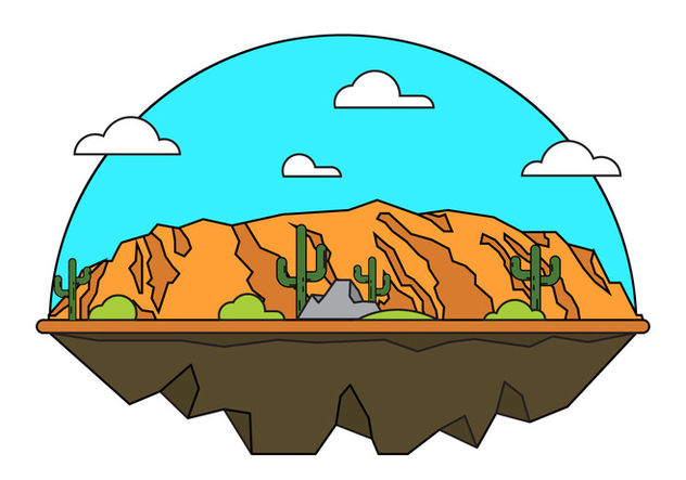 Grand Canyon Vector Illustration - Free vector #398369