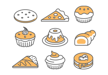 Bakery / Cake Icons - бесплатный vector #398429