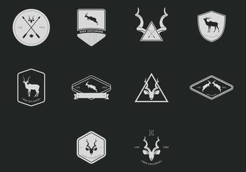 Kudu Hipster Badge Set - Kostenloses vector #398469
