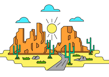 Grand Canyon Vector Illustration - Free vector #398529