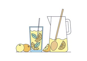 Free Lemonade Vector - Kostenloses vector #398649