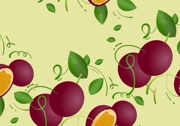 Free Passion Fruit Seamless Pattern Vector Illustration - Free vector #398729