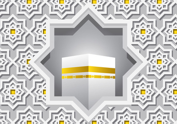 Decorative White Ka'bah Vector - Free vector #398809