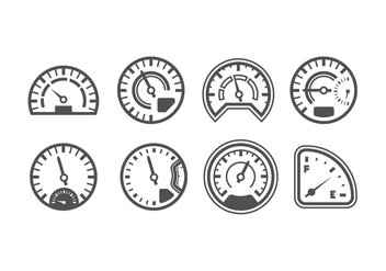 Pack of Speedometer Vectors - Kostenloses vector #398969