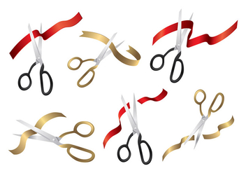 Ribbon Cut Vector - Free vector #399239