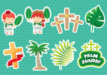 Palm Sunday Icons - vector gratuit #399379