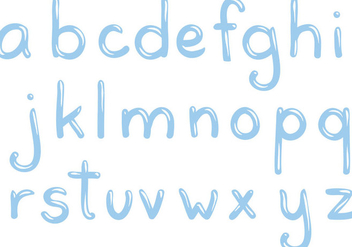 Free Water Letters Vectors - Free vector #399539