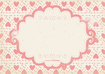 Cute Pink Hearts Grunge Background - Free vector #399889