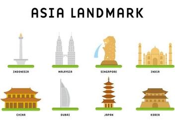 Free Asia Landmark Vector - vector #399999 gratis