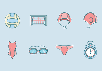 Free Water Polo Icon Vector - vector gratuit #400169
