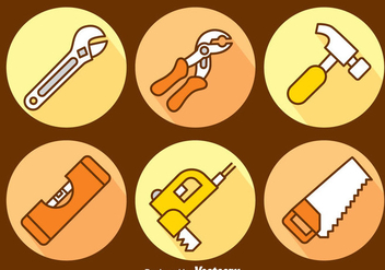 Hand Drawn Construction Tools Vector Set - Free vector #400319