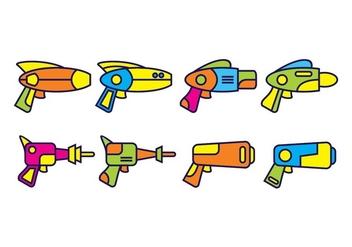 Free Laser Gun Vector Pack - Free vector #400369