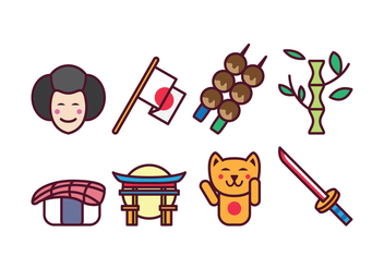 Free Japan Icon Set - vector gratuit #400409