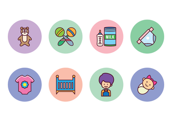 Free Baby Icon Set - vector gratuit #400419