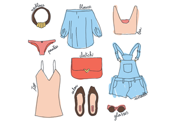 Women's Clothes - vector gratuit #400719