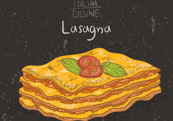 Layers Of Lasagna Vector - Free vector #400769