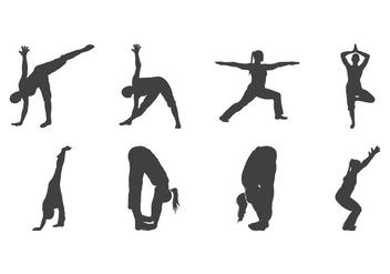 Free Yoga Silhouette Vector - Kostenloses vector #400959