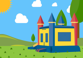 Illustration Landscape of Bounce House Vector - vector gratuit #400979