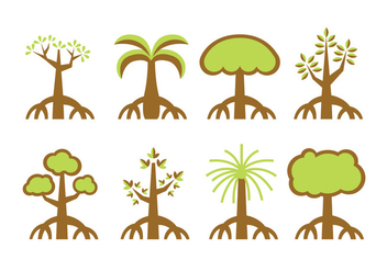 Mangrove trees vector - бесплатный vector #401139