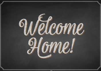Free Vector Welcome Home Chalkboard Sign - Free vector #401569