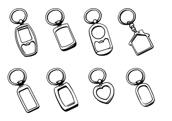 Silver Key Chain Vectors - Free vector #401899