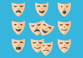 Free Teatro Mask Vectors - vector #401939 gratis