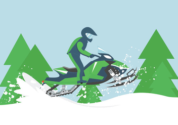 Snowmobile Illustration - Free vector #401989