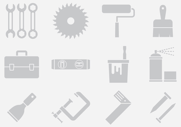 Gray Tool Icons - Free vector #402029