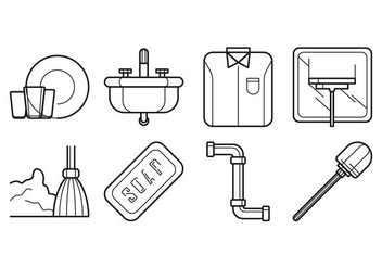 Free Cleaning and Washing Icon Vector - vector gratuit #402159
