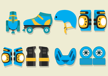 Roller Derby Vector Icons - Free vector #402199