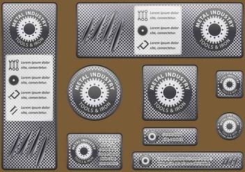 Metal Industry Banners - vector #402309 gratis