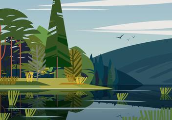 Swamp Landscape - vector gratuit #402559