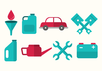 Free Oil Change and Car Mechanic Vector - бесплатный vector #402569