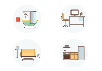 Room Vector Icons - vector #402659 gratis
