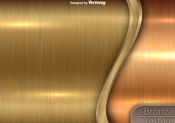 Bronze Texture - Vector Metallic Background - Free vector #402959