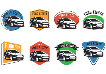Ford Fiesta Emblem - vector gratuit #402979