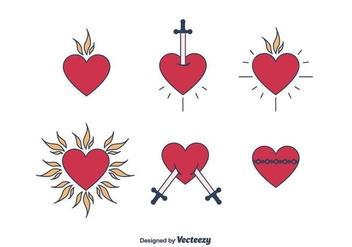 Sacred Heart Vector - vector gratuit #403049