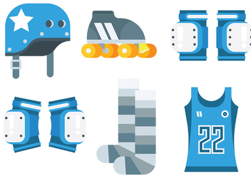 Free Roller Derby Icons Vector - Free vector #403149