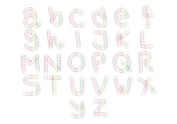 Free Slinky Alphabet Vector - Kostenloses vector #403389