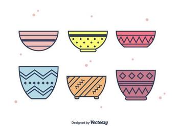 Bowls Vector - бесплатный vector #403669