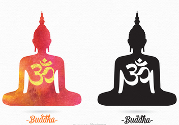 Free Vector Buddha Silhouettes - vector gratuit #403689