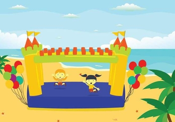 Free Bounce House Illustration - Kostenloses vector #403959